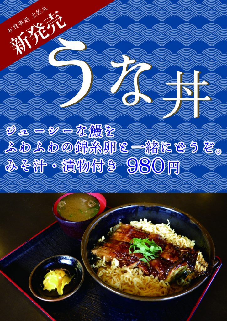 ウナギ丼:紺